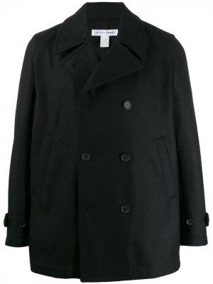 Двубортный бушлат Comme Des Garçons Shirt. Цвет: черный