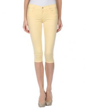Джинсовые брюки-капри MOTHER. Цвет: желтый