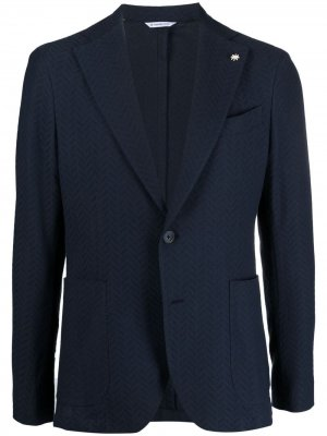 Однобортный пиджак Nuvola Manuel Ritz. Цвет: синий