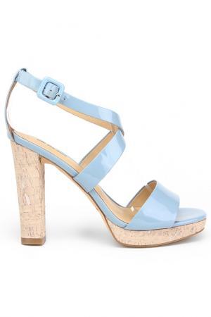 Босоножки Alba. Цвет: голубой