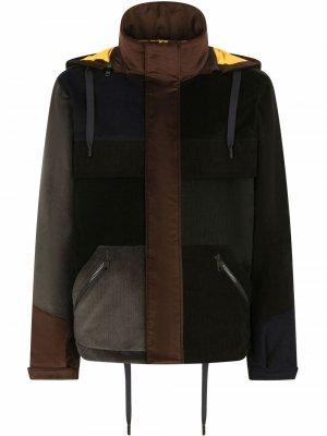 Пальто в технике пэчворк с капюшоном Dolce & Gabbana. Цвет: черный