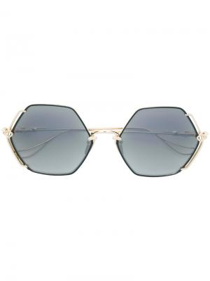 Массивные солнцезащитные очки Chrome Hearts. Цвет: металлик