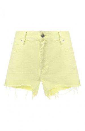 Джинсовые шорты Denim X Alexander Wang. Цвет: желтый