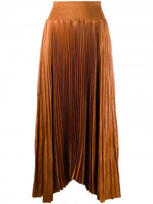 Плиссированная юбка макси A.L.C.. Цвет: коричневый