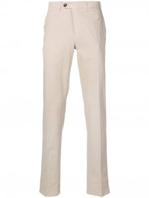Классические брюки чинос Canali. Цвет: нейтральные цвета