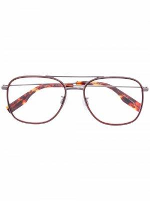 Солнцезащитные очки-авиаторы черепаховой расцветки MCQ. Цвет: коричневый
