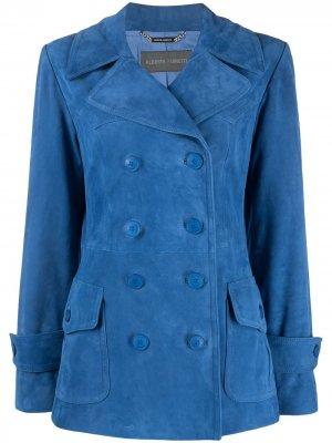 Двубортный пиджак Alberta Ferretti. Цвет: синий