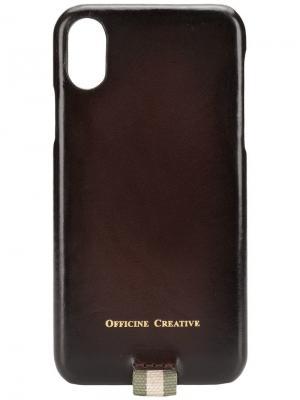 Чехол для IPhoneX Officine Creative. Цвет: коричневый