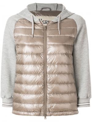 Куртка-бомбер с панельным дизайном Herno. Цвет: серый