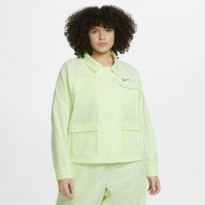 Женская куртка Nike Sportswear Swoosh (большие размеры) - Желтый