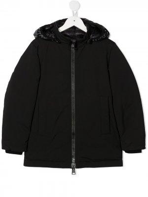 Куртка-пуховик на молнии Herno Kids. Цвет: черный