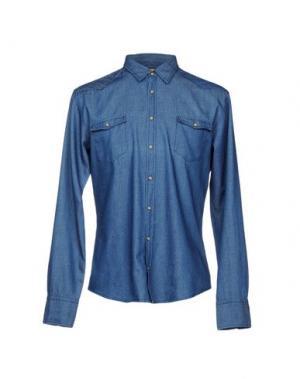 Джинсовая рубашка BOSS HUGO. Цвет: синий