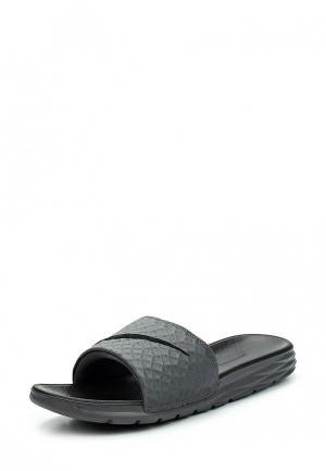 Сланцы Nike Benassi Solarsoft Slide. Цвет: серый