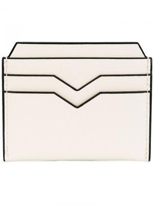 Визитница геометрического дизайна Valextra. Цвет: белый