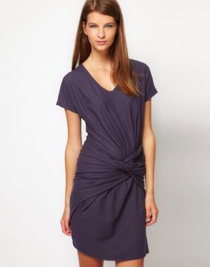 Платье с декоративным узлом JNBY. Цвет: серый