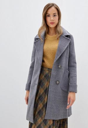 Пальто Marcella. Цвет: серый