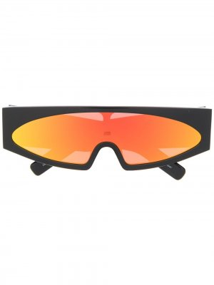 Солнцезащитные очки Tecuatl Retro Rick Owens. Цвет: черный