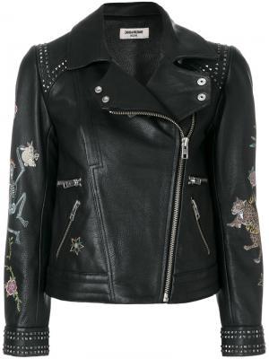 Kawai Tattoo deluxe jacket Zadig & Voltaire. Цвет: чёрный