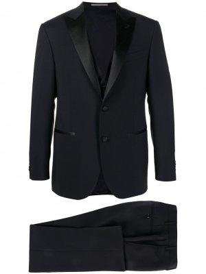 Вечерний костюм с двубортным пиджаком Corneliani. Цвет: синий