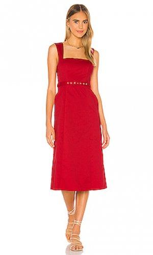Платье миди harvey Song of Style. Цвет: красный