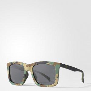 Солнцезащитные очки AOR015 Originals adidas. Цвет: зеленый