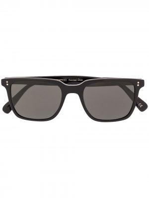 Солнцезащитные очки Lachman Sun в квадратной оправе Oliver Peoples. Цвет: черный