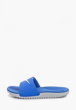 Сланцы Nike BOYS KAWA (GS) SLIDE. Цвет: синий