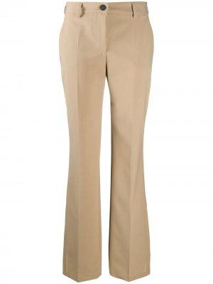 Расклешенные брюки строгого кроя Semicouture. Цвет: нейтральные цвета