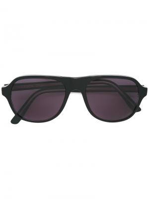 Солнцезащитные очки с матовой оправой Lesca. Цвет: чёрный