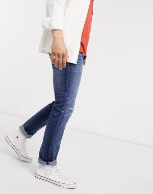Синие джинсы скинни -Синий Abercrombie & Fitch