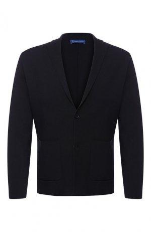 Хлопковый пиджак Andrea Campagna. Цвет: синий