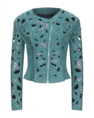 Куртка JITROIS. Цвет: зеленый