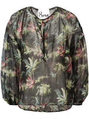 Блузка Garnet 8pm. Цвет: черный