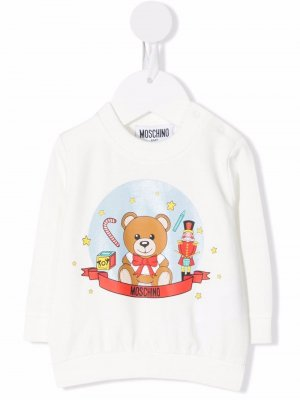 Teddy Bear motif sweater Moschino Kids. Цвет: белый