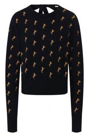 Шерстяной пуловер Chloé. Цвет: темно-синий