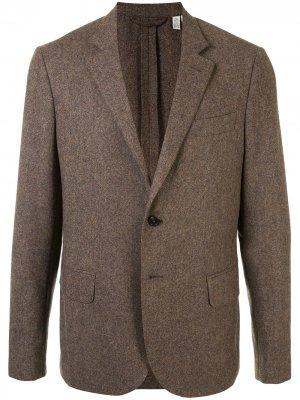 Однобортный пиджак Kent & Curwen. Цвет: коричневый