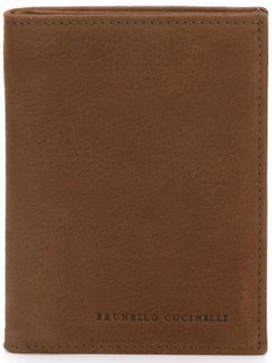 Классический бумажник Brunello Cucinelli. Цвет: коричневый