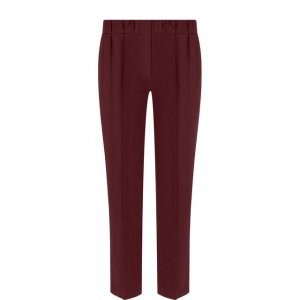 Укороченные брюки со стрелками и эластичным поясом Brunello Cucinelli. Цвет: красный