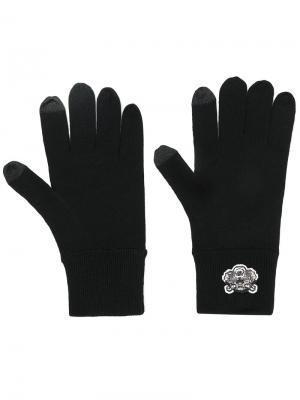 Перчатки с аппликацией тигра Kenzo. Цвет: чёрный