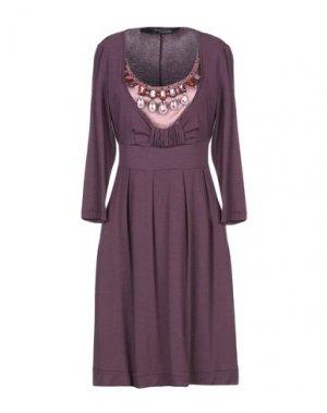 Короткое платье 22 MAGGIO by MARIA GRAZIA SEVERI. Цвет: баклажанный