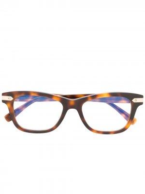 Очки в квадратной оправе черепаховой расцветки Hublot Eyewear. Цвет: коричневый