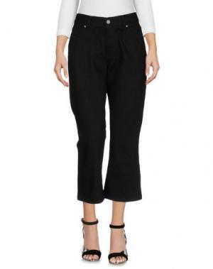 Джинсовые брюки-капри DR. DENIM JEANSMAKERS. Цвет: черный