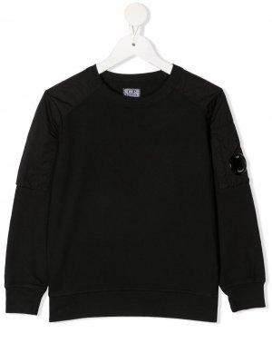Джемпер с логотипом C.P. Company Kids. Цвет: черный