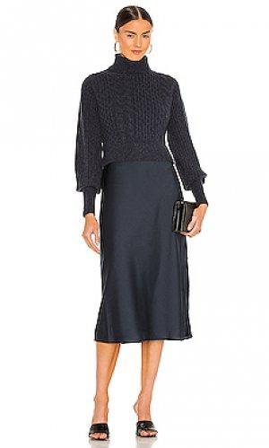 Платье tierny carina ALLSAINTS. Цвет: синий
