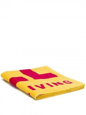 Пляжное полотенце с логотипом Diesel. Цвет: желтый