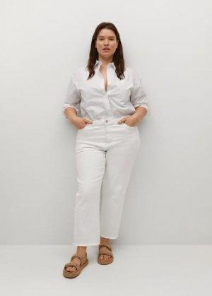 Укороченные джинсы straight - Elia Mango. Цвет: белый