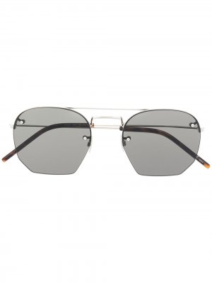Солнцезащитные очки-авиаторы Saint Laurent Eyewear. Цвет: серебристый