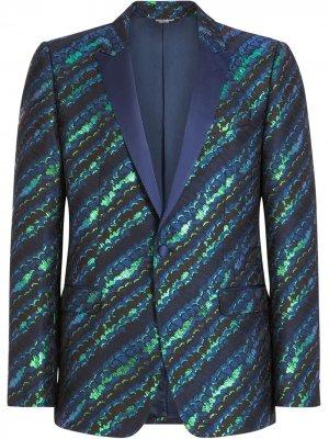 Костюм с узором Dolce & Gabbana. Цвет: зеленый
