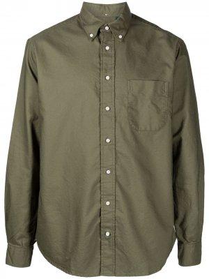 Рубашка с воротником на пуговицах Gitman Vintage. Цвет: зеленый