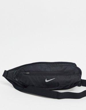 Черная большая сумка-кошелек на пояс Running-Черный Nike